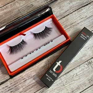 Tori belle magnetic lashes and liner (selfie)